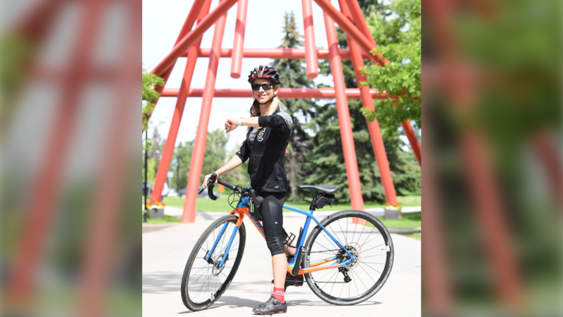The U of C study will monitor heart rates and stress levels through Garmin and Fitbit devices to determine where cyclists feel unsafe (supplied)