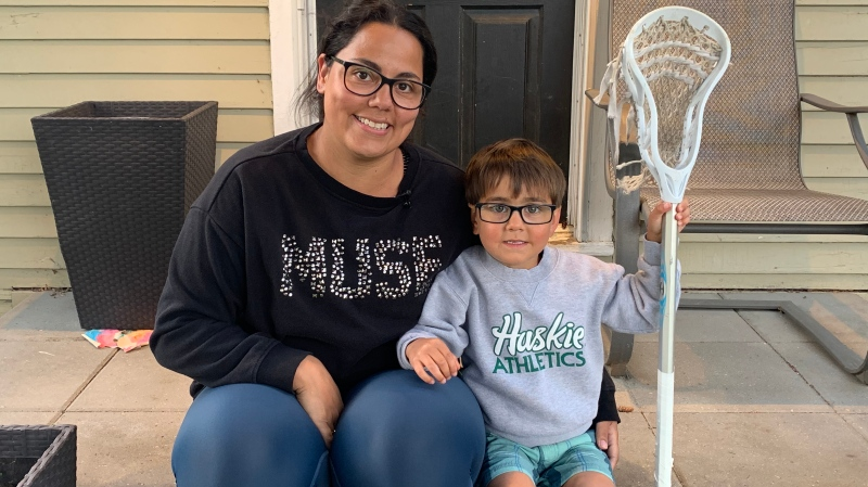 Denise Volk says her son Benjamin is healthier than ever during the COVId-19 pandemic. (Carla Shynkaruk/CTV Saskatoon)