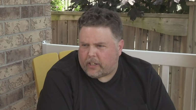 Homeowner David Johnstone discusses privacy concerns over security cameras in London, Ont. on Wednesday, July 15, 2020.