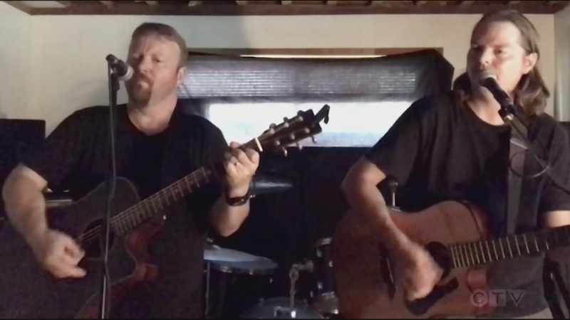 Tonight's song is from two Sudbury musicians -- Matt Larton and Ed Jeemus -- who perform an original tune called Slow Down.