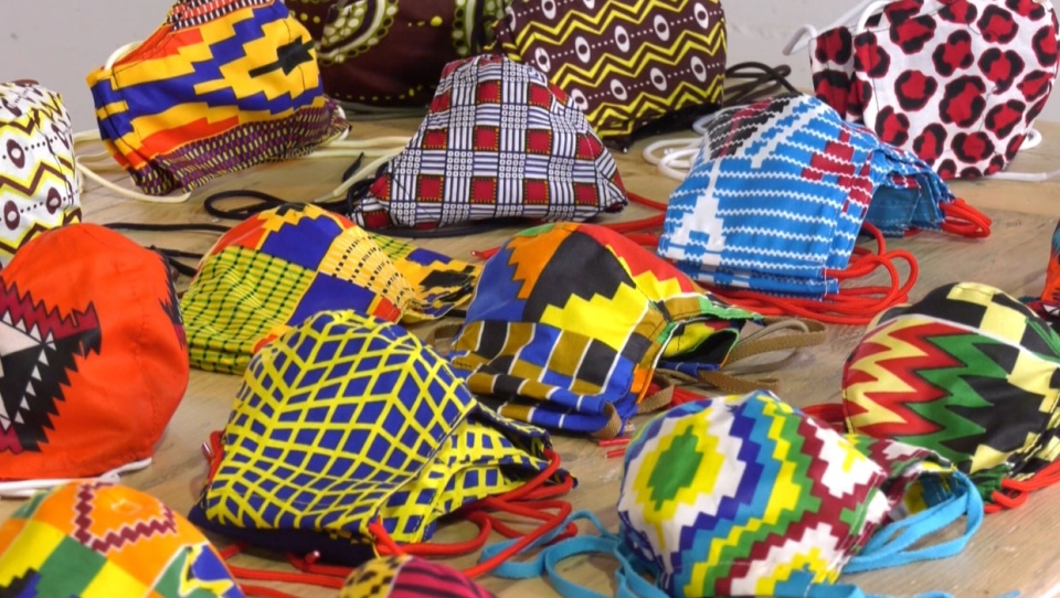 Calgary designer Paul Hardy's facemasks are colourful and support a great cause in Africa.
