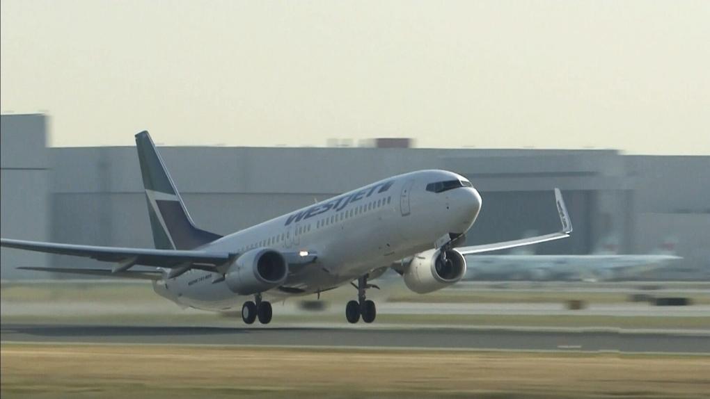 West Jet plane takeoff