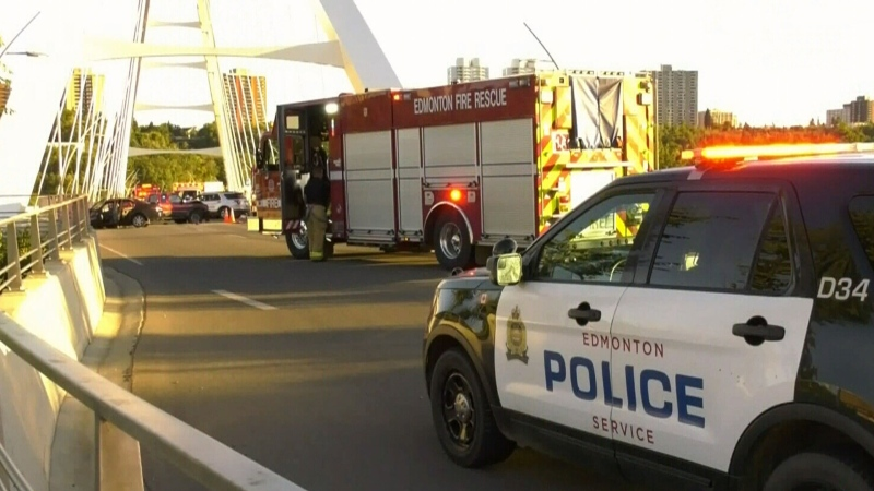 Car involved in fatal bridge crash was fleeing