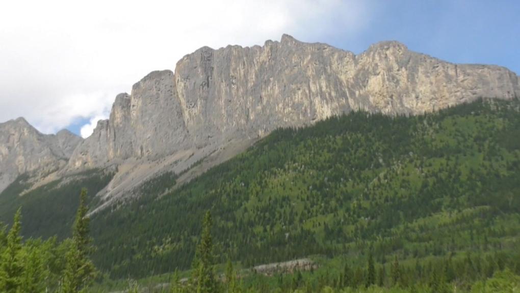 calgary, kananaskis country, mount yamnuska, hiker