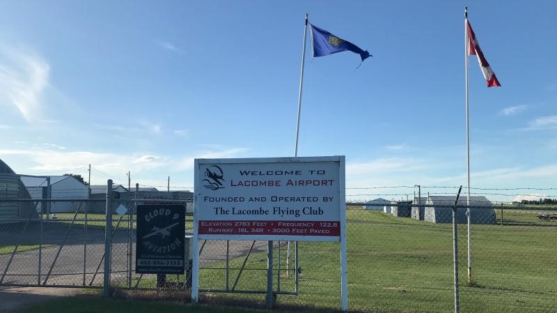 Lacombe Regional Airport. July 15, 2020. (Nav Sangha/CTV News Edmonton)