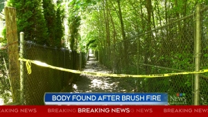 Body found after brush fire