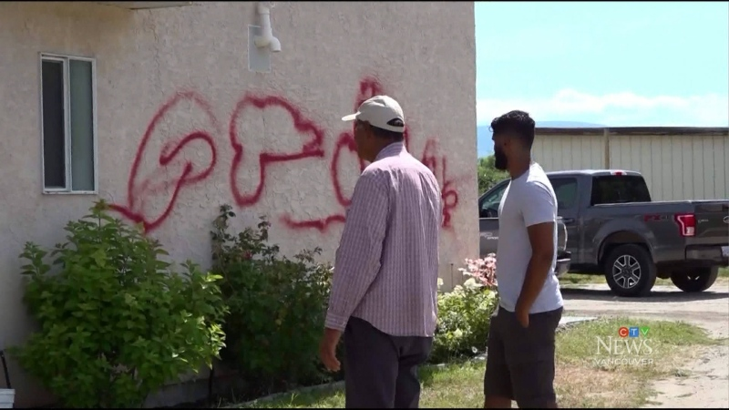 Support for family after racist attack on home