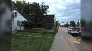 Police on scene in the 1400 block of Logan Avenue. (Source: Tara Lopez/CTV Winnipeg)