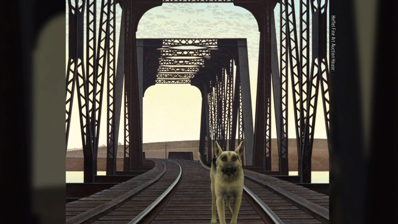 'Dog and Bridge' sells for record $2.4 million