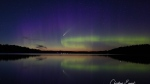 Northern Ontario photographer, Christina Emond, captures northern lights and Come NEOWISE. Jul. 13/20 (Christina Emond)