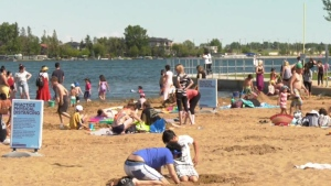 There were crowds at Chestermere's beaches again Thursday and the municipality has asked the province for help.