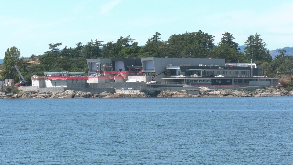 The $775-million plant on McLoughlin Point in Esquimalt has been under construction since its approval in 2016. (CTV News)