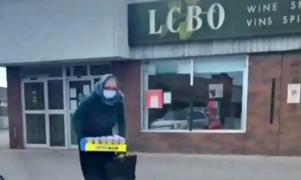 TikTok video shows Sault teen buying alcohol in LCBO dressed as senior, wearing mask