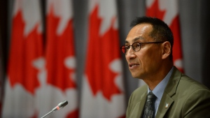 Dr. Howard Njoo, Deputy Chief Public Health Officer, holds a press conference on Parliament Hill in Ottawa on Friday, July 17, 2020. THE CANADIAN PRESS/Sean Kilpatrick