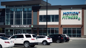 The Motion Fitness in Brighton is pictured on July 17, 2020. (Alessandra Carneiro/CTV Saskatoon)