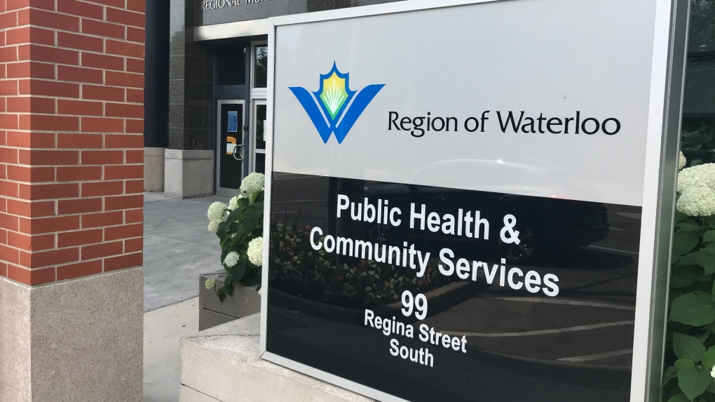 Region of Waterloo Public Health sign
