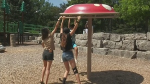 While families are happy for the reopening of public playgrounds, officials say they should still take precautions.