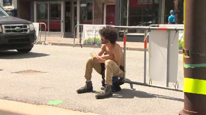 Homeless man in Halifax