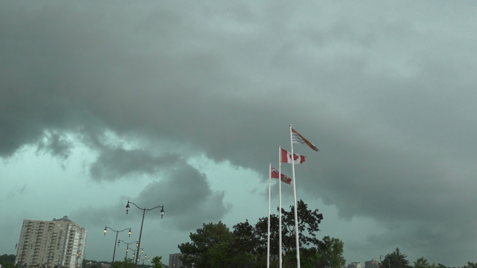 Storm clouds over Barrie