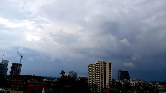 A storm moves over downtown Kitchener on July 19, 2020 (Courtesy: Deborah Goodall)