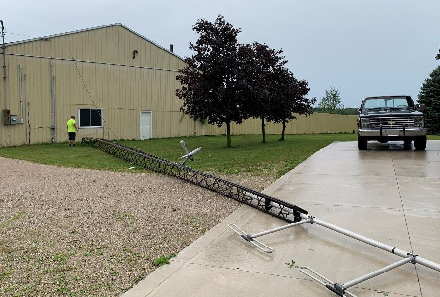 Storm damage south of Brussels Ont.
