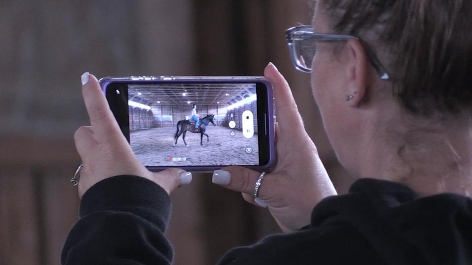 Recording for virtual horse shows in Sudbury
