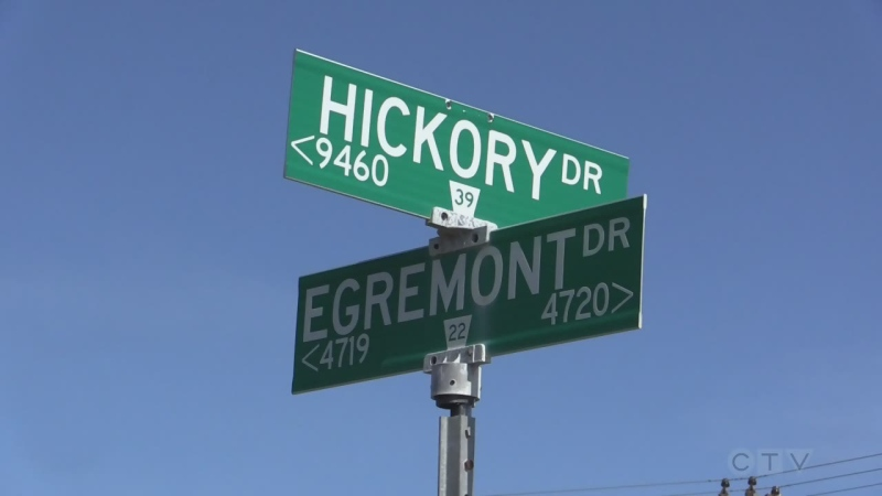 Hickory Drive and Egremont Drive signs