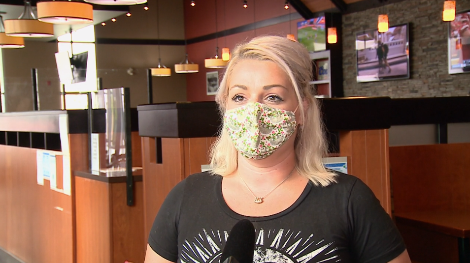 Lacey Harris tells CTV News she couldn't believe it at first when a regular customer left her a $1600 tip on Friday, July 17, 2020. (Aaron Reid / CTV News Ottawa)