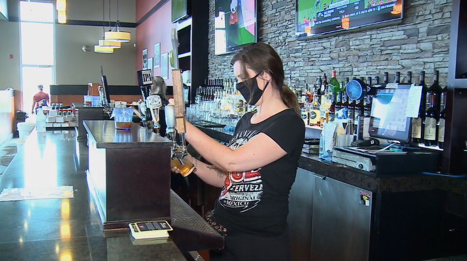 Jonny Canuck's server Jessica Norman tells CTV News the whole team is grateful for the generous, $1600 tip left on Friday, July 17, 2020. (Aaron Reid / CTV News Ottawa)