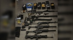 Firearms and ammunition seized by Toronto police officers on July 14 are seen. (Toronto Police Service)