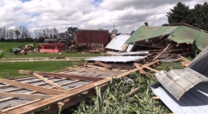 Storm damage in Huron County on July 20, 2020
