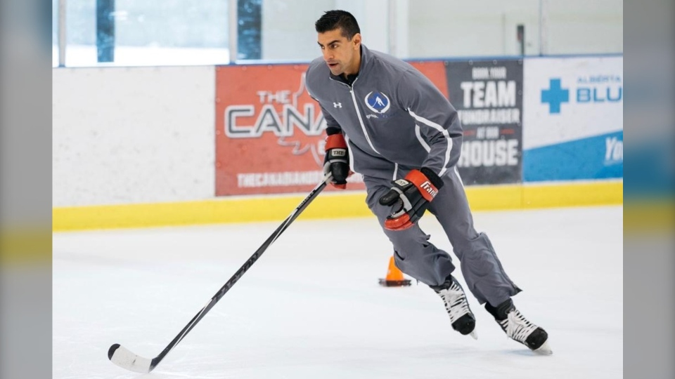 Dampy Brar played in the WHL then went on to play professional hockey in the International Hockey League.