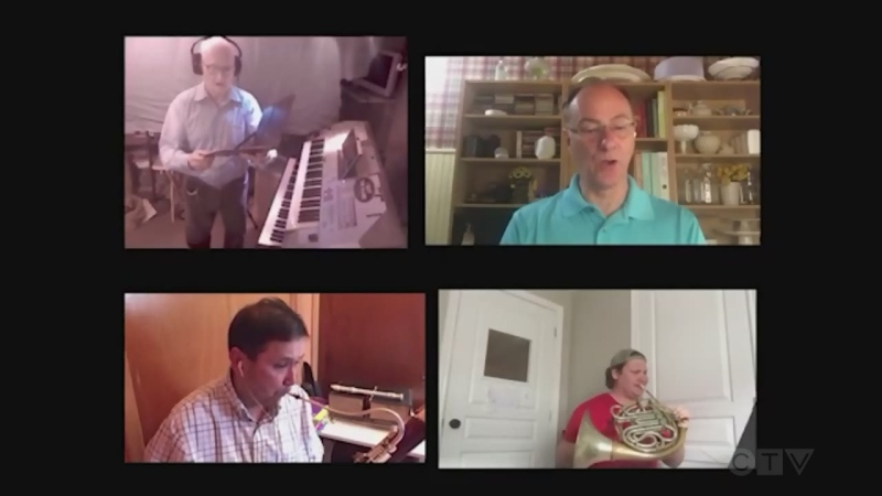 Members of the Timmins Symphony Orchestra and Chorus perform 'Until We Sing Again' together virtually.