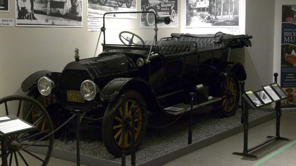 A classic, made-in-Brockville car, on display at the Brockville Museum. (Nate Vandermeer / CTV News Ottawa)