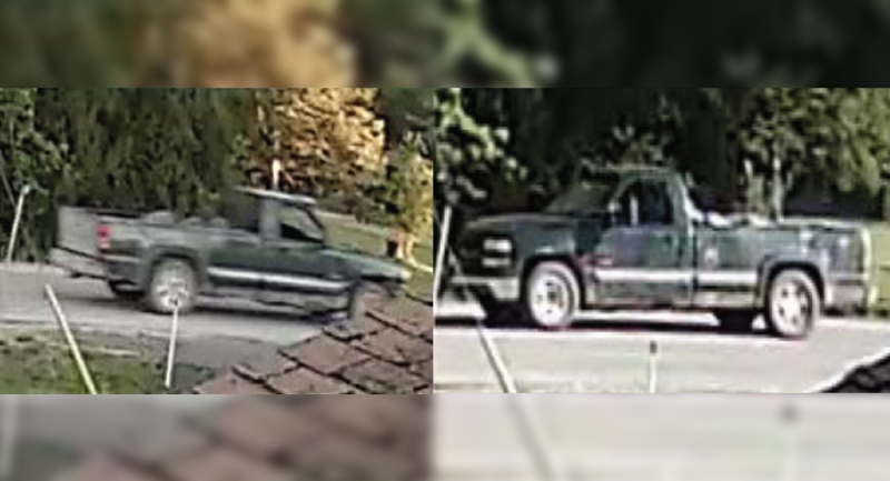 A pickup truck sought in the shooting death of Isaac Doxtator on Oneida Nation of the Thames First Nation is seen in these images released by Middlesex County OPP.