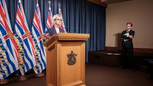 Dr. Bonnie Henry gives an update on the spread of COVID-19 in B.C. (Province of BC/Flickr)
