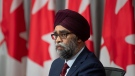 National Defence Minister Harjit Sajjan listens to a question during a news conference, Friday, June 26, 2020 in Ottawa. THE CANADIAN PRESS/Adrian Wyld