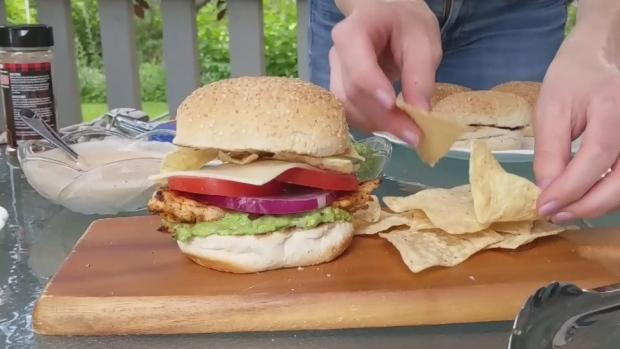 Tequila marinated chicken burger