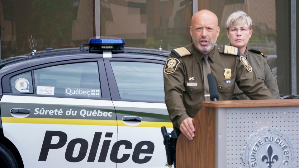 Surete du Quebec Chief Insp. Guy Lapointe