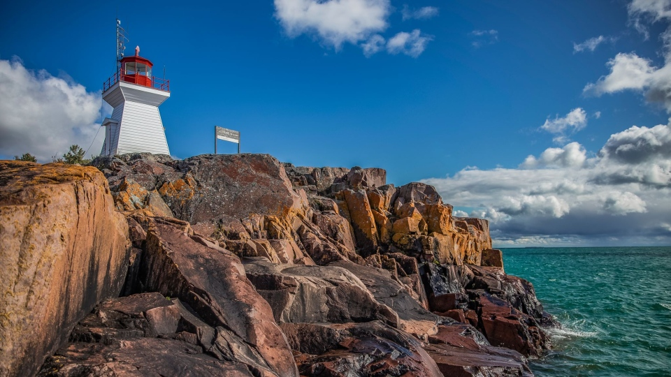 Photo of a lighthouse in Killarney, Ont. taken by Allison Beaulieu earned her a trip to Killarney Mountain Lodge.