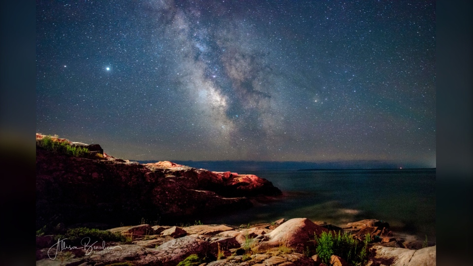 View of Milky Way from a Killarney lighthouse  July 2020 (Allison Beaulieu)