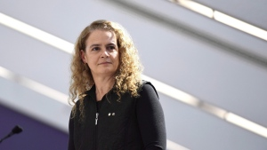 Gov. Gen. Julie Payette delivers remarks during a celebration of the 100th anniversary of Statistics Canada at its headquarters in Ottawa on Friday, March 16, 2018. THE CANADIAN PRESS/Justin Tang