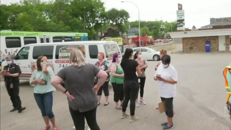 Evacuation at Saskatoon hotel