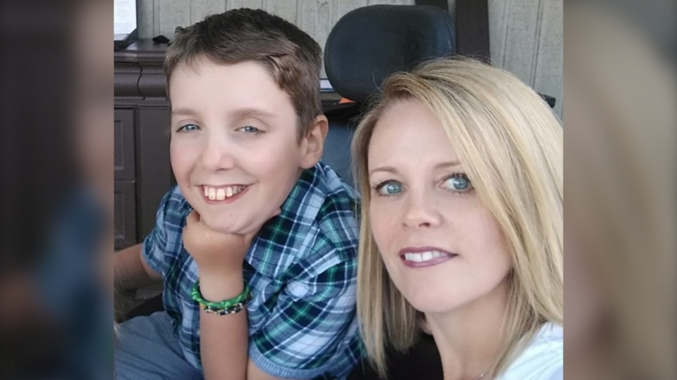 Van Bernard, who lives with spinal muscular atrophy, and his mother, Julie Clegg, have questions about Nova Scotia's back-to-school plan. (Julie Clegg/Facebook)