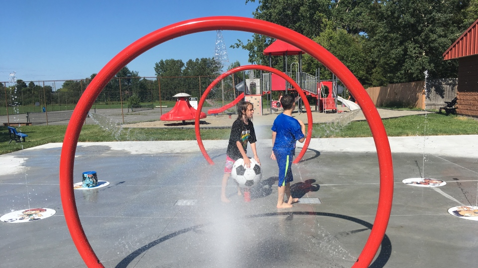 New splash pad unveiled at Twin Forks Playground