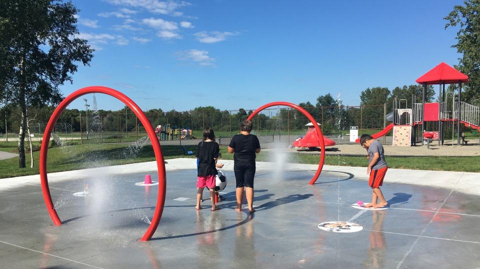 New Sudbury's Twin Forks Playground splash pad