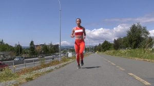 Yana Hempler has promised run even more marathons if her fundraising goals for the Victoria Hospitals Foundation are reached: (CTV News)