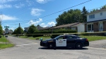 Ontario Provincial Police investigate a homicide at a home on Lemay Circle in Rockland, Ont. July 24, 2020. (Jeremie Charron / CTV News Ottawa)