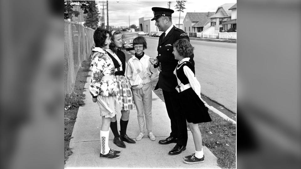 Calgary police crossing guard