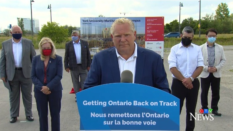 Ontario Premier Doug Ford on July 24, 2020 (CTV News)